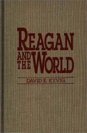 Cover of: Reagan and the World | David E. Kyvig