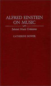 Cover of: Alfred Einstein on music