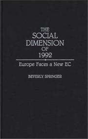 Cover of: social dimension of 1992 | Beverly Springer