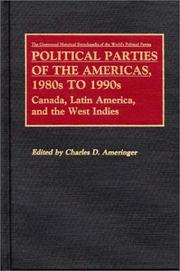 Cover of: Political Parties of the Americas, 1980s to 1990s