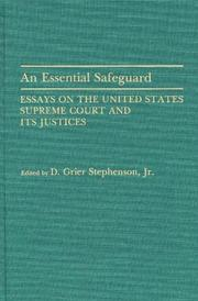 Cover of: An Essential safeguard |