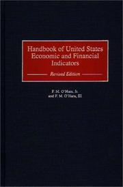 Cover of: Handbook of United States economic and financial indicators | Frederick M. O