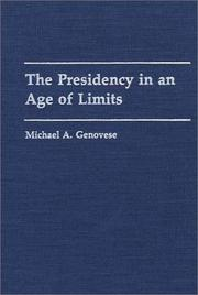 Cover of: The presidency in an age of limits