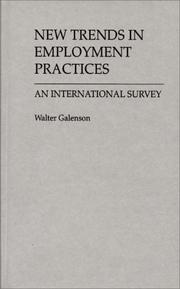 Cover of: New trends in employment practices: an international survey