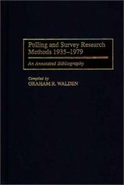 Cover of: Polling and survey research methods, 1935-1979