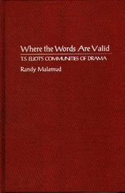 Cover of: Where the words are valid | Randy Malamud