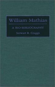 Cover of: William Mathias | Stewart R. Craggs