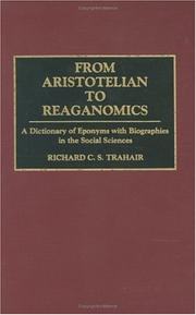 Cover of: From Aristotelian to Reaganomics