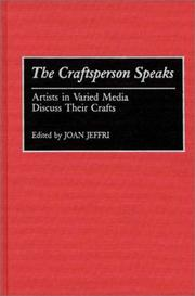 Cover of: The Craftsperson Speaks