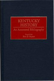 Cover of: Kentucky History (Bibliographies of the States of the United States)