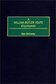 Cover of: A William Butler Yeats encyclopedia