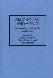 Cover of: Alcoholism and aging
