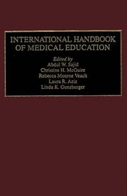 Cover of: International handbook of medical education |
