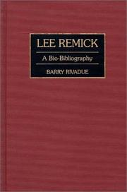 Cover of: Lee Remick