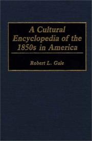 Cover of: A cultural encyclopedia of the 1850s in America