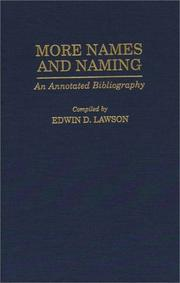 Cover of: More names and naming