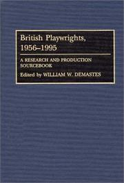 Cover of: British playwrights, 1956-1995 |