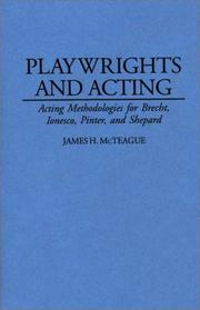 Cover of: Playwrights and acting