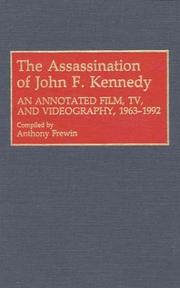 Cover of: The assassination of John F. Kennedy