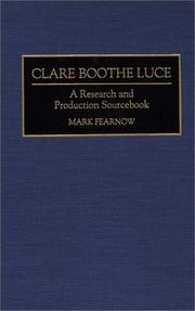 Cover of: Clare Boothe Luce