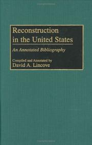 Cover of: Reconstruction in the United States