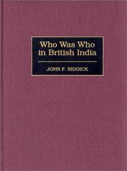 Cover of: Who was who in British India