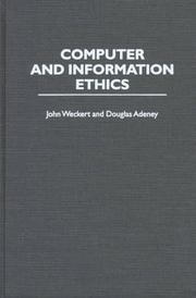 Cover of: Computer and information ethics