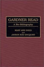 Cover of: Gardner Read