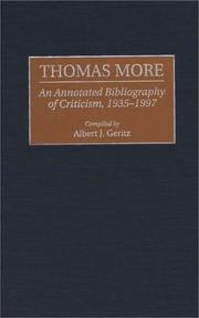 Cover of: Thomas More | Albert J. Geritz