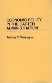 Cover of: Economic policy in the Carter administration