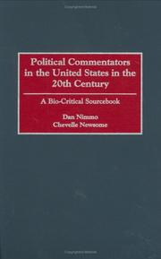 Cover of: Political commentators in the United States in the 20th century