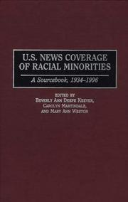 Cover of: U.S. news coverage of racial minorities |