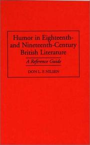 Cover of: Humor in eighteenth- and nineteenth-century British literature