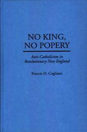 Cover of: No king, no popery