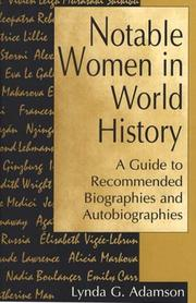 Cover of: Notable women in world history | Lynda G. Adamson