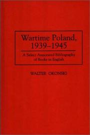 Cover of: Wartime Poland, 1939-1945