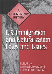Cover of: U.S. immigration and naturalization laws and issues
