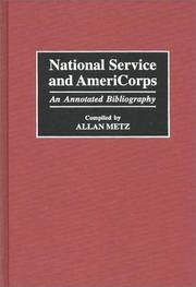 Cover of: National service and AmeriCorps