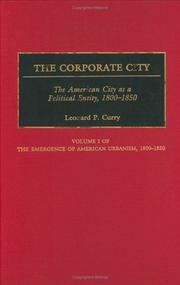 Cover of: The corporate city