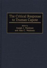 Cover of: The critical response to Truman Capote