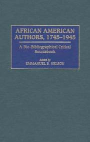 Cover of: African American Authors, 1745-1945 | Emmanuel S. Nelson