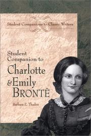 Cover of: Student companion to Charlotte & Emily Brontë | Barbara Thaden
