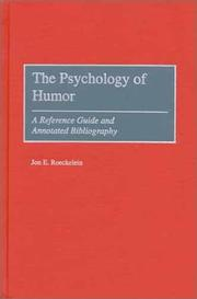 Cover of: The Psychology of Humor | Jon E. Roeckelein