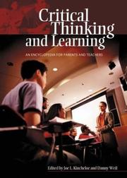Cover of: Critical thinking and learning