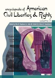 Cover of: Encyclopedia of American Civil Rights and Liberties [Three Volumes] |