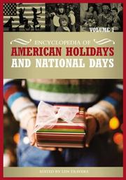Cover of: Encyclopedia of American Holidays and National Days, Volume 1