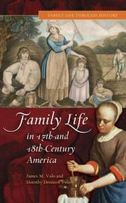 Cover of: Family life in 17th- and 18th-century America