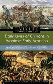 Cover of: Daily lives of civilians in wartime early America