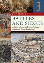 Cover of: Dictionary of Battles and Sieges [Three Volumes] | Tony Jaques