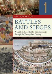 Cover of: Dictionary of Battles and Sieges | Tony Jaques
